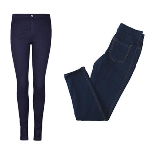 Quần legging giả jean màu xanh thời thượng