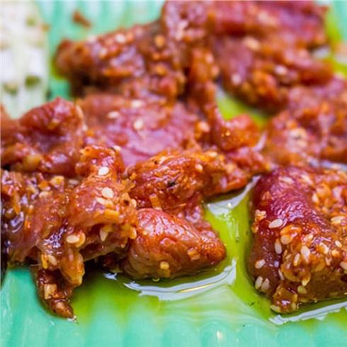 Thịt đà điểu tươi ướp sẵn (1kg) kèm nước chấm hiệu Kim Phụng