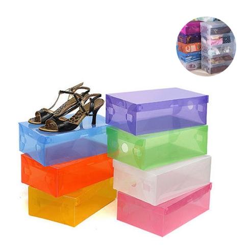 Combo 10 Hộp đựng giày dép bằng nhựa tiện dụng màu xanh lá