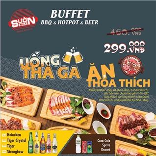 Cùng Mua - Buffet nuong, lau, beer, nuoc ngot khong gioi han - Suon No.1