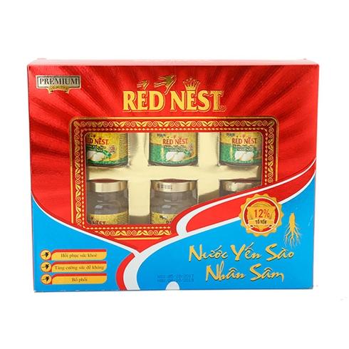 6 hộp yến sào nhân sâm đường phèn Red Nest