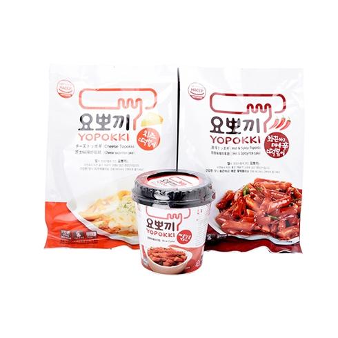 3 bánh gạo Toppoki Hàn Quốc vị phô mai, siêu cay, cay ngọt