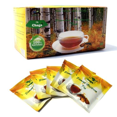 Gói trà Chaga 30 túi lọc tốt cho tiêu hoá, hô hấp, tim mạch