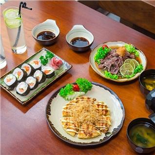 Cùng Mua - Set bánh xèo, sushi cho 2 nguòi tại nhà hàng Shinbashi