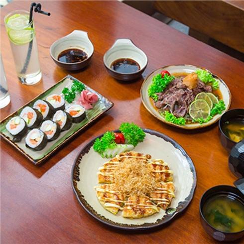 Set bánh xèo, sushi cho 2 người tại nhà hàng Shinbashi