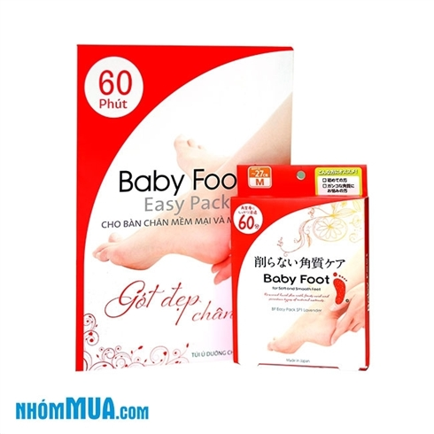 Túi ủ dưỡng chân tẩy da chết Baby Foot - Nk Nhật Bản