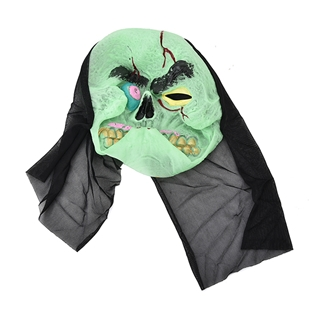 Cùng Mua - Mat na da hoa trang mat quy xanh Halloween M1 MS323