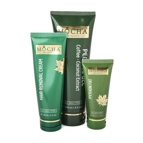 Bộ tẩy lông thảo mộc Mocha wax sạch dịu nhẹ không đau rát da