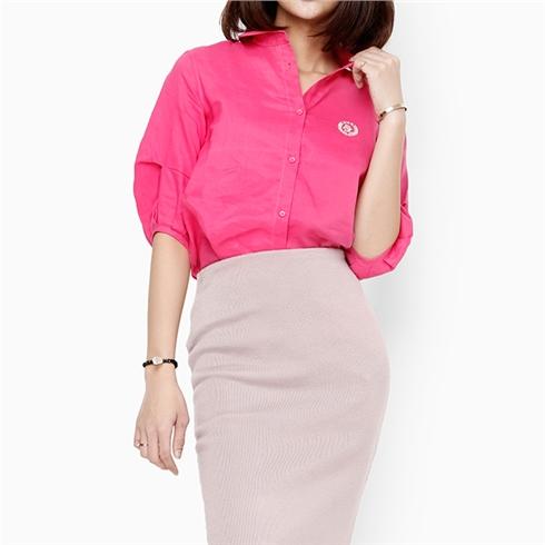 Áo sơ mi nữ thời trang - Màu hồng
