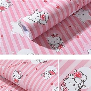 Cùng Mua - Combo 5m giay dan tuong Hello Kitty hong kho lon DTL17
