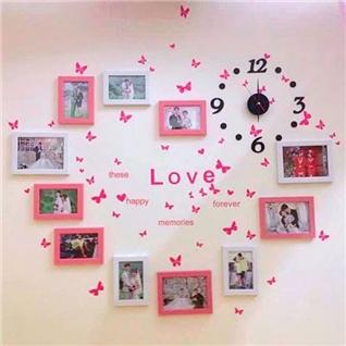 Cùng Mua - Set 11khung hinh trang hong trang tri phong cuoi + decal Love