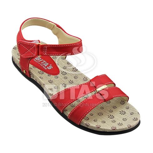 Sandal nữ quai đôi Bita's cá tính SYN136 màu đỏ