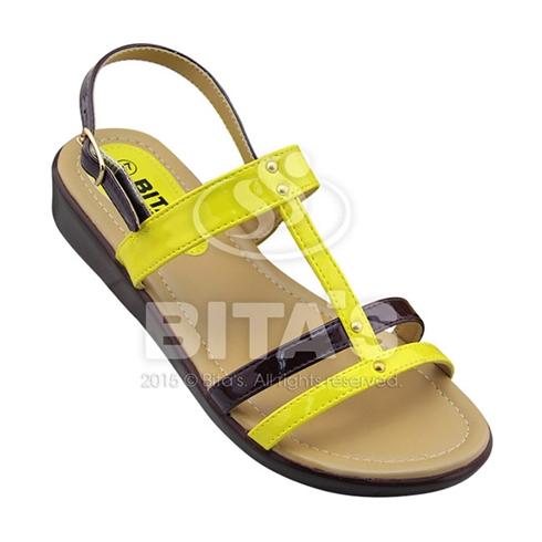 Sandal nữ Bita's quai phối màu SYN144 màu vàng