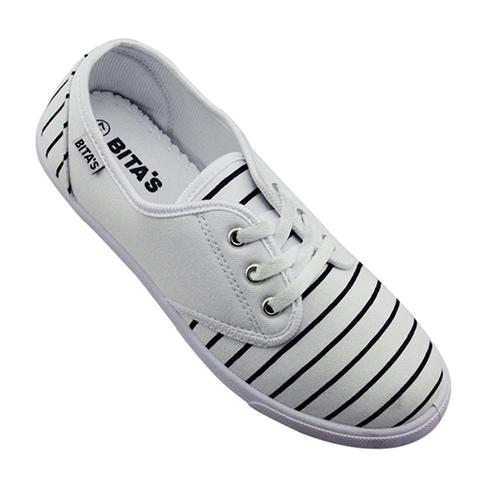 Giày slip on nữ Bita's phối sọc GVW023 màu trắng