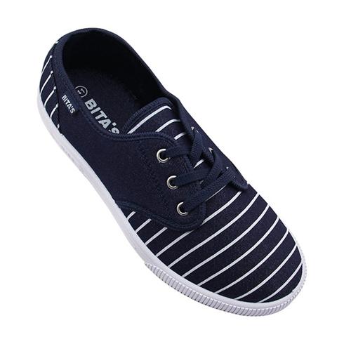 Giày slip on nam Bita's phối sọc năng động GVM037 xanh Jean
