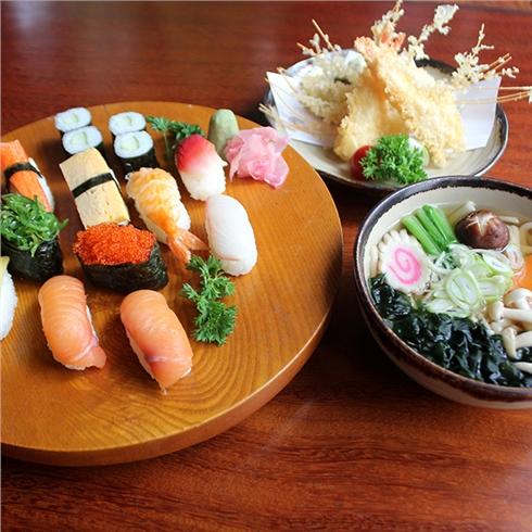Combo sushi và mì Udon tempura hấp dẫn cho 2 người-Shinbashi