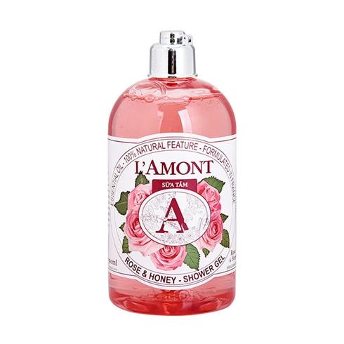 Sữa tắm L'amont En Provence Rose và Honey 500ml