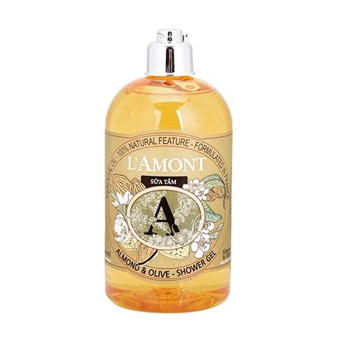 Sữa tắm L'amont En Provence Almond và Olive 500ml