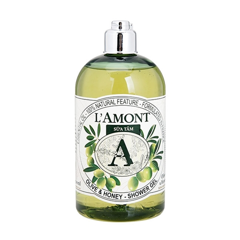 Sữa tắm L'amont En Provence Olive và Honey 500ml