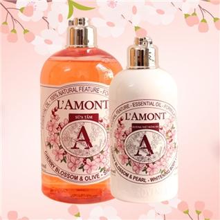 Cùng Mua - Set sua tam + duong the L'amont En Provence Cherry Blossom