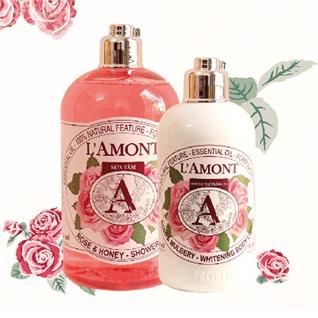 Cùng Mua - Set sua tam + sua duong the L'amont En Provence Rose Mulbery