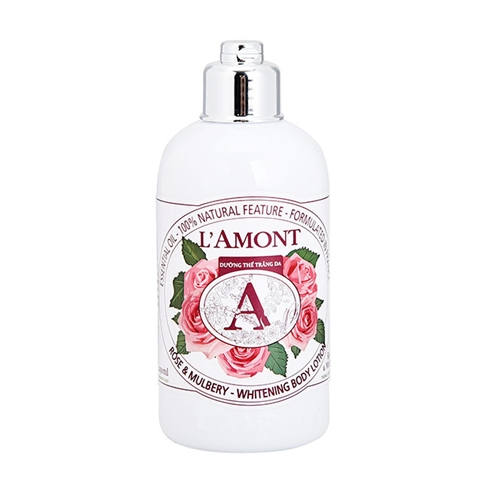 Sữa dưỡng thể trắng da L'amont En Provence Rose và Mulbery