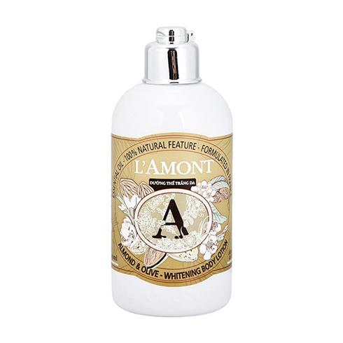 Sữa dưỡng thể trắng da L'amont En Provence Almond và Olive