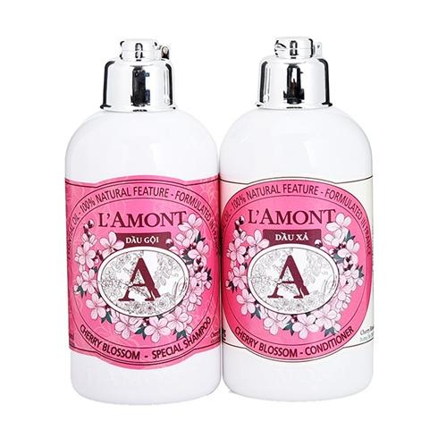 Dầu xả + dầu gội trị gàu L'amont En Provence Cherry Blossom