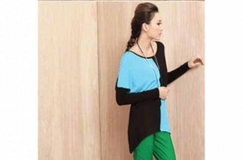 Áo thun tay dài cánh én:Cho bạn gái ấm áp trong thời tiết se lạnh.