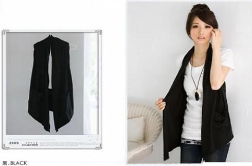 Áo khoác Ghilê nữ 2 túi thời trang:Tha hồ kết hợp với nhiều loại trang phục khác nhau.