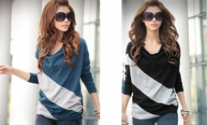 Áo thun tay dài cánh dơi Mix Color:Thun cotton cao cấp, dễ phối đồ.