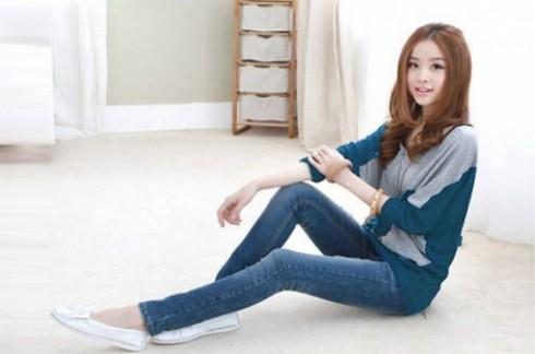 Áo thun phọt dài Mixcolor:Cotton cao cấp, tôn lên vẻ đẹp của bạn gái.