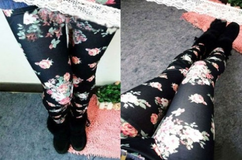 """Quần Legging hoa hồng:Xu hướng thời trang Legging cực """"hót"""""""