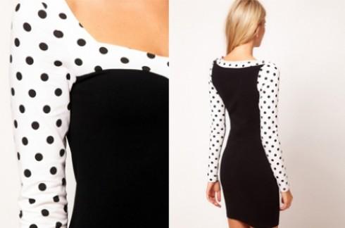 Đầm body chấm bi Ngọc Trinh:Tạo nét duyên dáng nhẹ nhàng cho bạn gái.