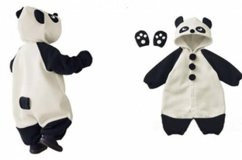 Áo liền quần gấu Panda hoặc Con bò sữa:Nhiều size cho bé chọn lựa.