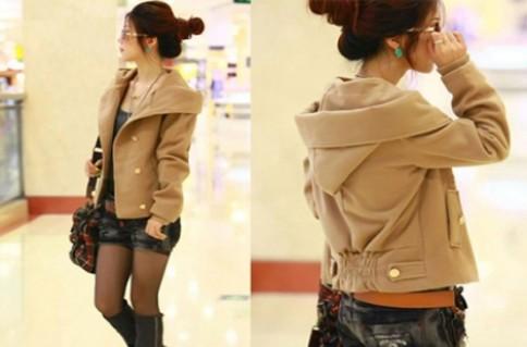 Áo khoác Hàn Quốc màu da bò:Mang lại vẻ đẹp trẻ trung sang trọng.