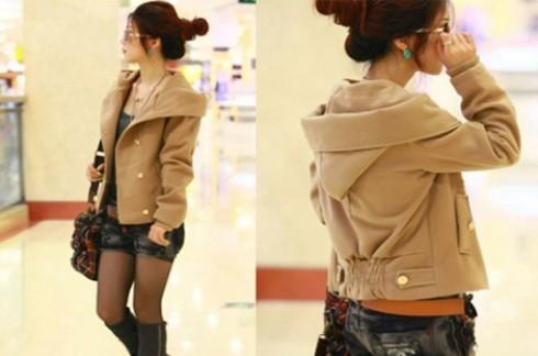 Áo khoác màu da bò kiểu Hàn Quốc:Mang lại vẻ đẹp trẻ trung sang trọng.