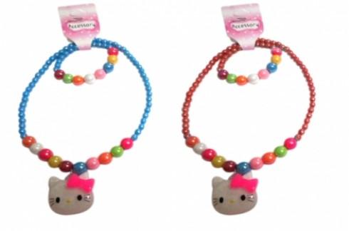 Combo Dây chuyền + lắc tay Hello Kitty Cho Bé:Mẫu mã đáng yêu, xinh xắn