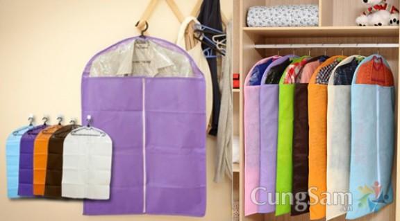 Túi chống bụi quần áo (2 túi )