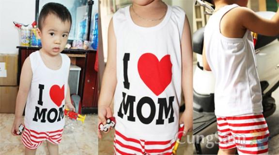 BỘ QUẦN ÁO I LOVE MOM
