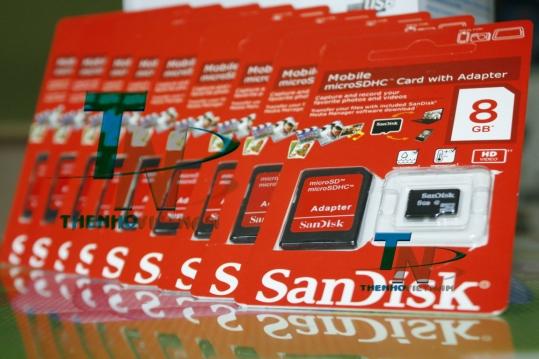 Thẻ nhớ Sandisk 8GB FULL BOX PRO