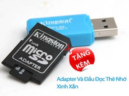 Combo thẻ nhớ Micro SD 8GB + ..