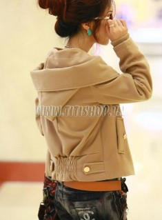 Áo khoác màu da bò dành cho nữ