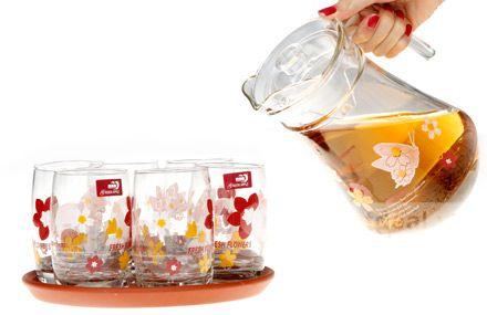 Deal-Bộ bình cốc thủy tinh, 6 ly + 1 bình xinh xắn tiện dụng trang trí cho khuôn làm việc ,văn phòng ,phòng khách gia đình của bạn thêm trang nhã đẹp tôn thêm vẻ uy nghi