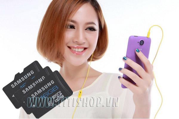 Thẻ nhớ điện thoại Cao cấp SAMSUNG TF 16GB CLASS 6 Tốc độ cao nhanh lưu trữ dữ liệu cho điện thoại