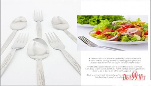 Bộ Muỗng Nĩa inox-12 Muỗng - 12 Nĩa Giúp Cho Gia đình Bạn Có Những Bữa ăn Thoải Mái Vui Vẻ Bên Người Thân Và Gia đình Giá Chỉ 75.000