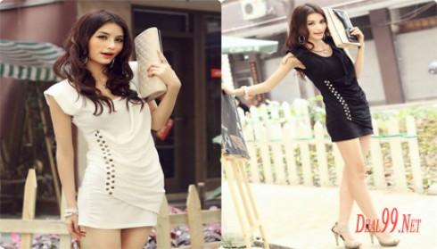 Váy Bó Đính Đinh Tán Bên Hông