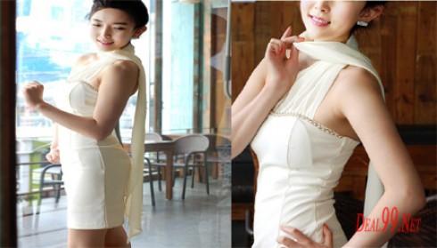 Đầm ôm cúp ngực phối voan mỏng
