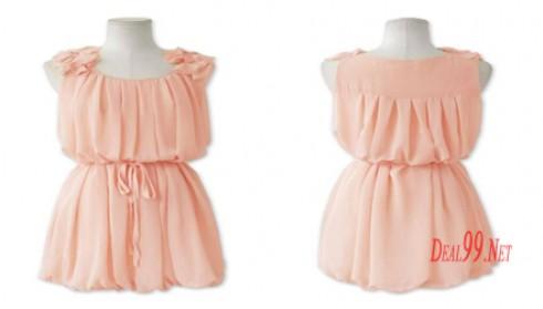 Váy Chiffon xếp ly lãng mạn