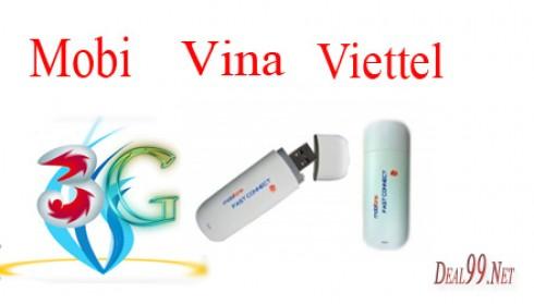 USB 3G Mobile Phone 7.2Mbps dùng cho cả 3 mạng Viettel - Mobi - Vina
